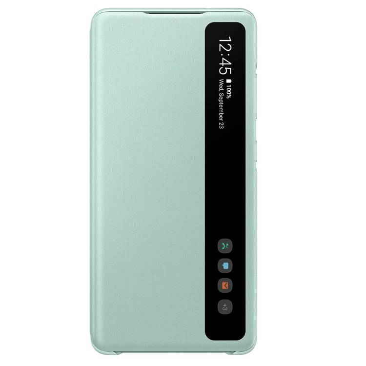 Etui Samsung Smart CLEAR View Cover Zielony do Galaxy S20 FE (EF-ZG780CMEGEE)